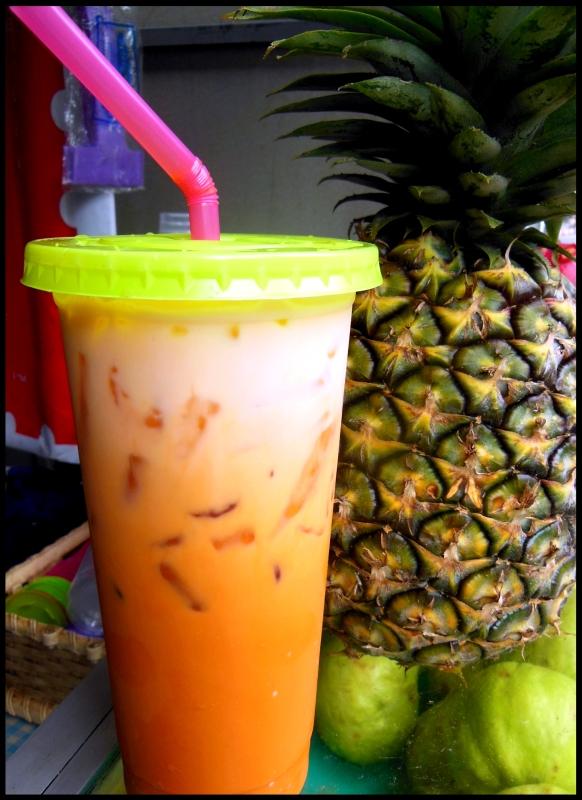 Tajska herbata z mlekiem kokosowym