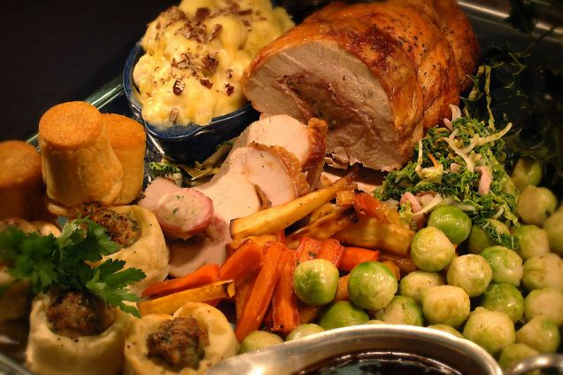Świąteczny obiad w Wielkiej Brytanii